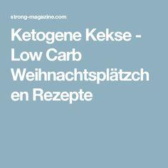 Ketogene Kekse - Low Carb Weihnachtsplätzchen Rezepte