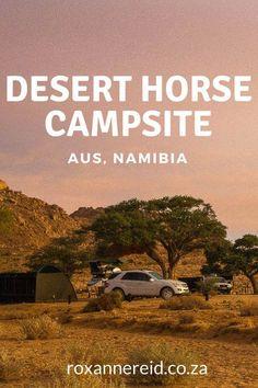 Desert Horse Campsite, Aus, #Namibia #travel #wildhorses #Africa