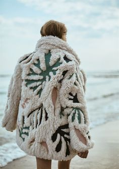 The perfect winter jacket for cold weather by the ocean