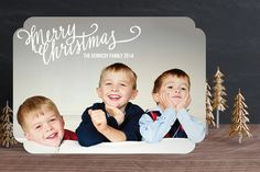 Merry Scriptmas Holiday Photo Cards by Rebecca Turner at minted.com