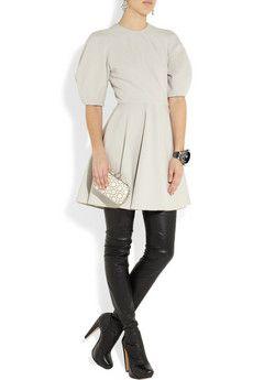 Alexander McQueen | Wool-blend stretch-jersey dress  | NET-A-PORTER.COM