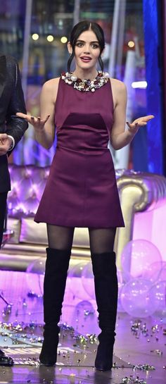 Lucy Hale Style, Pretty Little Liars Fashion, Aria Montgomery, Celeb Style, New Shows, Idol, Celebs, Street Style, Black