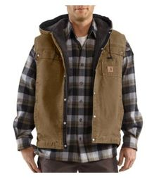 Save $38.25 on Carhartt Men`s Big-Tall Sandstone Hooded Multi Pocket Vest Sherpa Lined; only $61.75 + Free Shipping