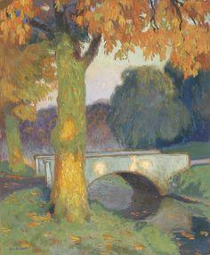 """""""Little Bridge,"""" Gustave De Smet, 1914."""