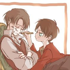 Levi and Eren - Attack on Titan - Shingeki no Kyojin