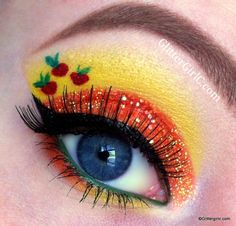 Applejack Inspired Eye Makeup....Sara will love all these my little pony makeup pics