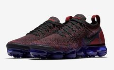 0807986ff2f4 Nike Air VaporMax Flyknit 2 Color  Black White-Team Red-Racer Blue