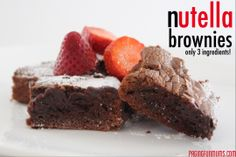 Nutella Brownies! Say no more!