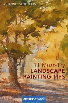 Landscape Artist Johannes Vloothuis Answers 11 Student Questions Discover 11 landscape painting tips from an expert artist! Oil Painting Tips, Watercolor Painting Techniques, Watercolor Landscape Paintings, Acrylic Painting Techniques, Watercolour Tutorials, Art Techniques, Landscape Art, Painting Tutorials, Abstract Paintings