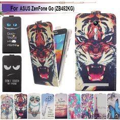 Fashion 11 Colors Cartoon Pattern Up and Down Flip PU Leather Case For ASUS ZenFone Go (ZB452KG)