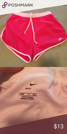 Nike Dri fit shorts size small Never worn. Fabric is 60% cotton, 35% polyester and 5% spandex. Really soft and versatile Nike Shorts