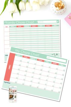 Free Printable: Family Chore Chart (Two Options) - Clean Eating with kids Weekly Chore Charts, Family Chore Charts, Weekly Chores, Chore List, Chore Chart Template, Printable Chore Chart, Free Printables, Chore Calendar, Routine Chart