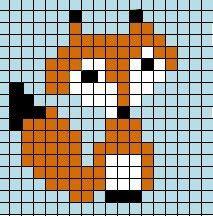 Small Fox Pattern to Cross Stitch