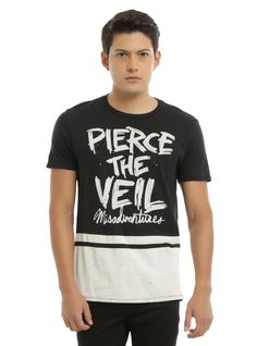 """Have you checked out the latest album, <i>Misadventures,</i>from post-hardcore favorites Pierce The Veil? If not, you're totally missing out. Get this black and white splatter shirt to wear while you finally enjoy the noise!<div><ul><li style=""""LIST-STYLE-POSITION: outside !important; LIST-STYLE-TYPE: disc !important"""">100% cotton</li><li style=""""LIST-STYLE-POSITION: outside !important; LIST-STYLE-TYPE: disc ..."""