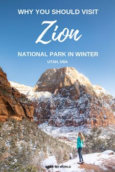 An in-depth guide to Zion National Park in Winter and why you should go from a c. - An in-depth guide to Zion National Park in Winter and why you should go from a couple who just did - Usa Travel Guide, Travel Usa, Travel Guides, Travel Tips, Beach Travel, Budget Travel, Us Travel Destinations, Outdoor Reisen, National Park Pass