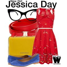 Inspired by Zooes Deschanel as Jessica Day on New Girl. #television #wearwhatyouwatch