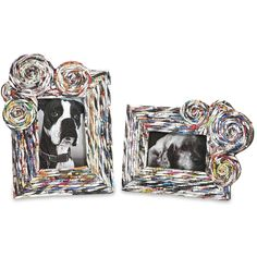Imax Anise Recycled Magazine Photo Frames (Set of 2) (Frames), Multi, Size 10x13 (Glass)