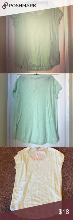 NWT Green sweater tee New tee made of sweater material in pastel green color Sweaters Crew & Scoop Necks