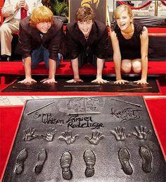 Rupert Grint, Daniel Radcliffe & Emma Watson