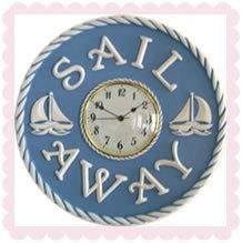 Children's nautical clock by Marie Ricci featured on Etsy Treasury List, Curves and Colors