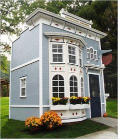 piętrowy domek ogrodowy