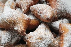 """Great recipe for """"Mutzenmandeln"""" German fritters. """"Mutzenmandeln"""" is a typical German biscuits that is baked in cold season to rollicking celebrations including New Year's Eve and Carnival. German Biscuits, German Bread, Dessert Recipes, Desserts, Fritters, International Recipes, Sweet Recipes, Sweet Tooth, Sweet Treats"""