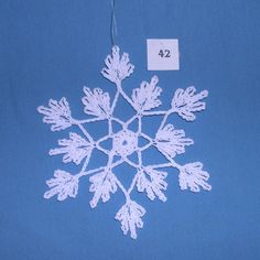 PDF Patterns for 5 Crocheted Snowflakes set 9 от TheNeedleWorks