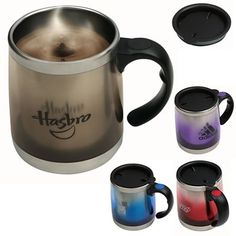 15 oz Plastic Mug with Steel Interior & Handle- A prefect travel mug
