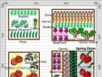 Be Inspired by Other Gardeners' Garden Ideas. This is one of many garden plans shared by members of our gardening community. Our popular Vegetable Garden Planner is a big hit among new and experienced gardeners. The program lets you sketch out your garden layout and add crops from an extensive list. Then it gives you customized planting dates based on your ZIP code. From MOTHER EARTH NEWS magazine.
