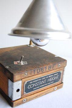 Industrial desk lamp.