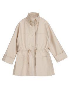RIZZO - Denim jacket - Creme London College Of Fashion, Mens Windbreaker, Classic Man, Fabric Material, High Fashion, Duster Coat, Jackets For Women, Raincoat, Women Wear