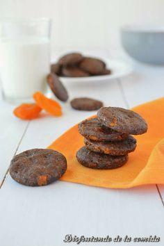 mini cookies de chocolate y albaricoque