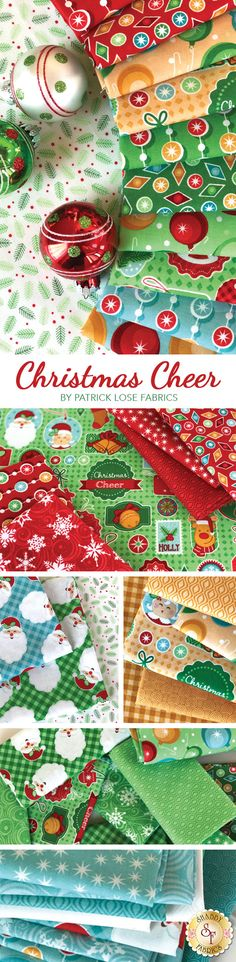 Christmas Cheer is a bright Christmas collection by Patrick Lose Fabrics available at Shabby Fabrics