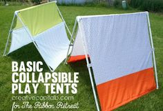 Basic Collapsible Play Tents - The Ribbon Retreat Blog & Collapsible Fabric Play Tent...for kids | Tents Plays and Outdoors