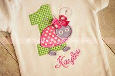 Pink Ladybug shirt onesieLadybug birthday by ShilohMystieDesigns, $25.99