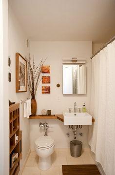 Pequeño cuarto de baño Ideas-30-1 Diseño Kindesign