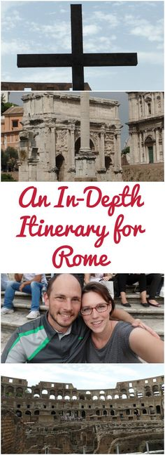 An in-depth itinerary for Rome. Including the colosseum, roman forum, trevi fountain, spanish steps, and pantheon. How to plan your trip to Italy.