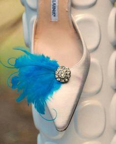 Shoe Clips Something Blue / Ivory / White / Black / by sofisticata, Custom made colors! http://sofisticata.etsy.com