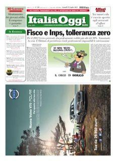 copertina ItaliaOggi Sette