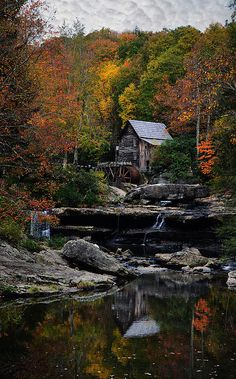 Glade Creek Grist Mill Print By Lj Lambert http://fineartamerica.com/products/7-glade-creek-grist-mill-lj-lambert-art-print.html