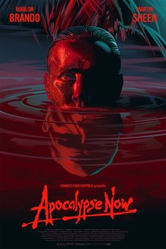 Apocalypse Now by Laurent Durieux x Apocalypse N. - Apocalypse Now by Laurent Durieux x Apocalypse Now by Lauren - Best Movie Posters, Movie Poster Art, Horror Movie Posters, Cinema Posters, The Warriors 1979, Apocalypse Now Movie, Post Apocalypse, Laurent Durieux, Film Poster Design