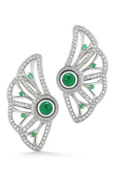 Diamond and emerald earrings from Ivanka Trump.