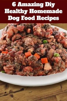 6 Amazing Diy Healthy Homemade Dog Food Recipes I have a great post for you guys today puppy lovers. Guess what, amazing healthy homemade dog food recipes your puppy will love. Greek Recipes, Crockpot Recipes, Dog Food Recipes, Healthy Recipes, Healthy Food, Healthy Eating, Cake Recipes, Clean Eating, Food Dog