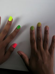 Mani Mondays neon nails how to make more neon