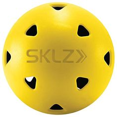 SKLZ Impact Golf Balls (Pack of Limited True Flight Hitting Impact Golf Balls, Dent Resistant and Long Lasting, Stronger Alternative to Plastic Training Golf Balls, Perfect for Home Practice Baseball Training, Golf Training, Golf Hitting Net, Batting Tee, Golf Practice, Golf Chipping, Loft, Golf Tips For Beginners, Golf Gifts