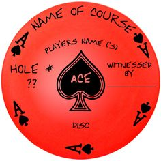 New Disc Golf Custom Dyed Ace Disc Authenticator Make It Official Any Disc OK | eBay