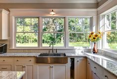 Kitchen Barn Style Sink, Light Fixture And Built In Towel Holder   Custom  Kitchen
