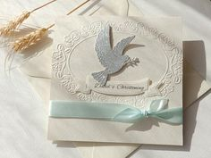 Dove Christening invitation/Boy and Girl Baptism