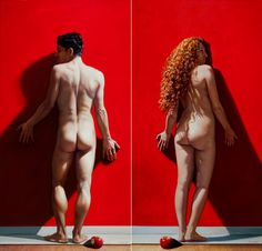 Painting by Modesto Trigo Trigo Couple Art, Conceptual Art, Still Life, Statue, Pictures, Painting, Anatomy, Nude, Modern