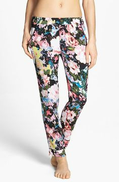 silk pajama pants, made in USA. I would wear them as regular pants tho! great for spring. floral.
